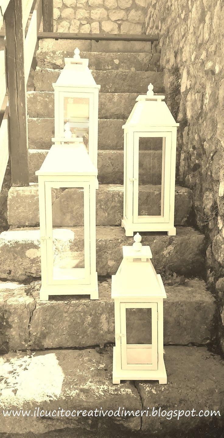 Lanterne in legno fatte a mano disponibili in qualsiasi misura