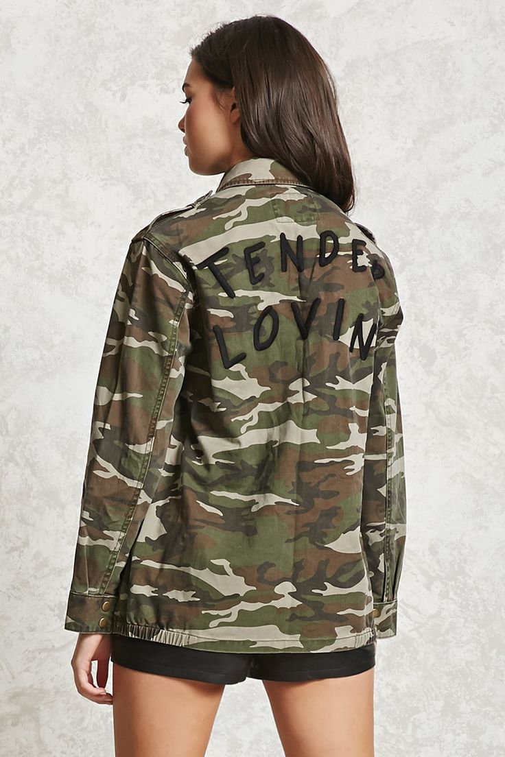 Product Name:Tender Lovin Camo Print Jacket, Category:outerwear_coats-and-jackets, Price:39.9