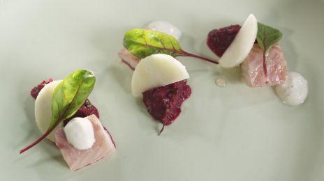 Eén - Dagelijkse kost - tartaar van rode biet, appel en gerookte paling met mierikswortel | Eén