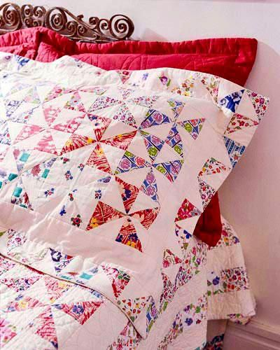 Free Pillowcase and Pillow Patterns ~ Pieced Pinwheels Pillow Sham