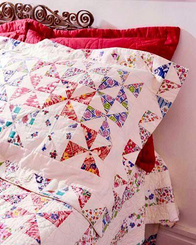 Free Pillowcase and Pillow Patterns ~ Pieced Pinwheels Pillow Sham