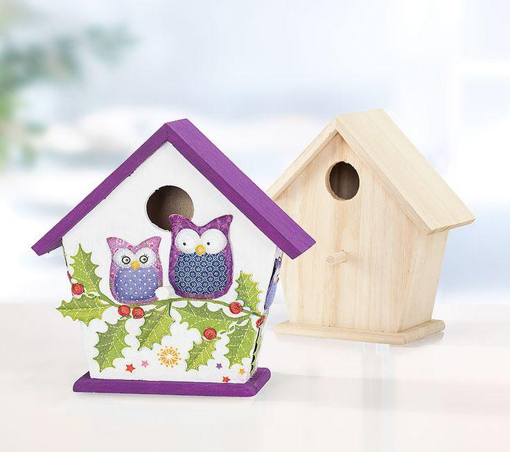 Anleitung weihnachtliches vogelhaus mit eulen in 3d - Anleitung vogelhaus ...
