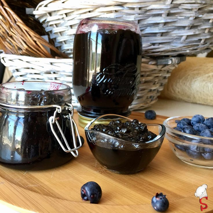 Jam lovers we are! This one is from blueberries. Soo fragrant!