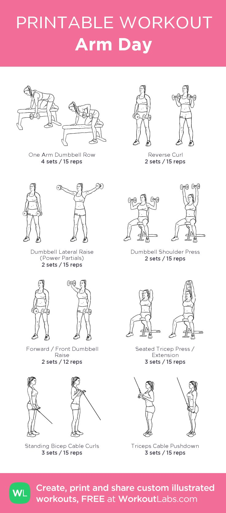 Arm Day: my custom printable workout by @WorkoutLabs