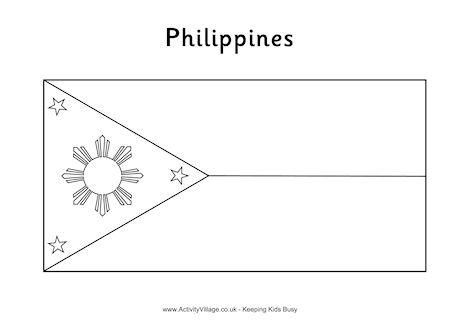Philippines Flag Colouring Page (With images) | Flag ...