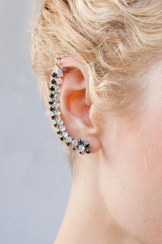 Diy Jewelry Diy Rhinestone Ear Cuff Diy Earrings