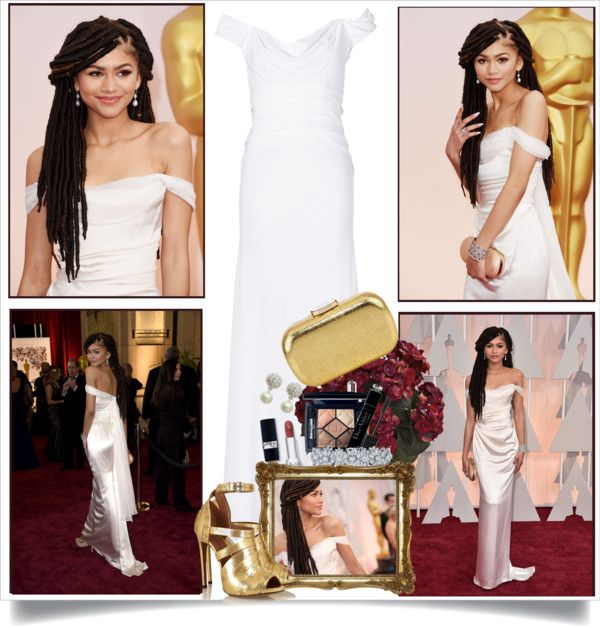 """""""Zendaya at The Oscars 2015"""" by melindairenes ❤ liked on Polyvore"""