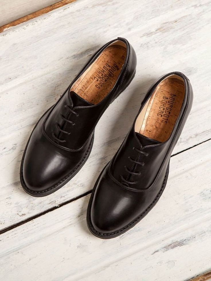 shop ethical sustainable & ethical clothing by Bourgeois Boheme Edie Derby Shoe: Black| Portugal Artisan Handmade with Vegan Leather Shoes | Ethi