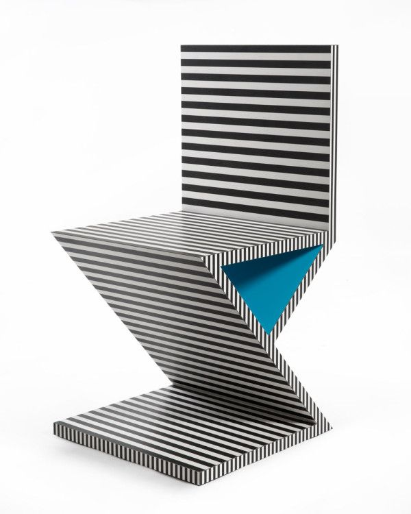 This humbug-striped chair should make for an instant talking point in the office. (Neo Laminati range by Kelly Behun) #officedesign