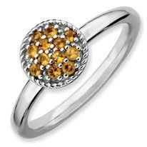 0.2ct Timeless Stackable Citrine Rhodium Ring Band. Sizes 5-10 Available Jewelry Pot. $34.99. Fabulous Promotions and Discounts!. 30 Day Money Back Guarantee. All Genuine Diamonds, Gemstones, Materials, and Precious Metals. 100% Satisfaction Guarantee. Questions? Call 866-923-4446. Your item will be shipped the same or next weekday!