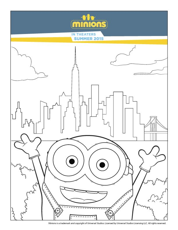 248 Best Images About Minions Coloring Pages Pa Pinterest