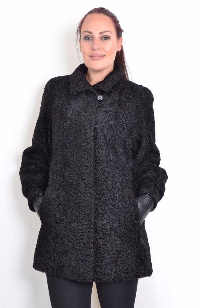 US647 unique Swakara Persian lamb Jacket fur coat Persianer Pelzjacke ca. L #Handmade #BasicJacket