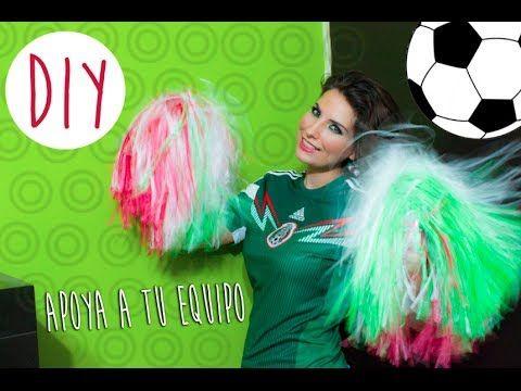 DIY: Como hacer pompones para apoyar a tu equipo // How to make cheerleader pom poms - YouTube