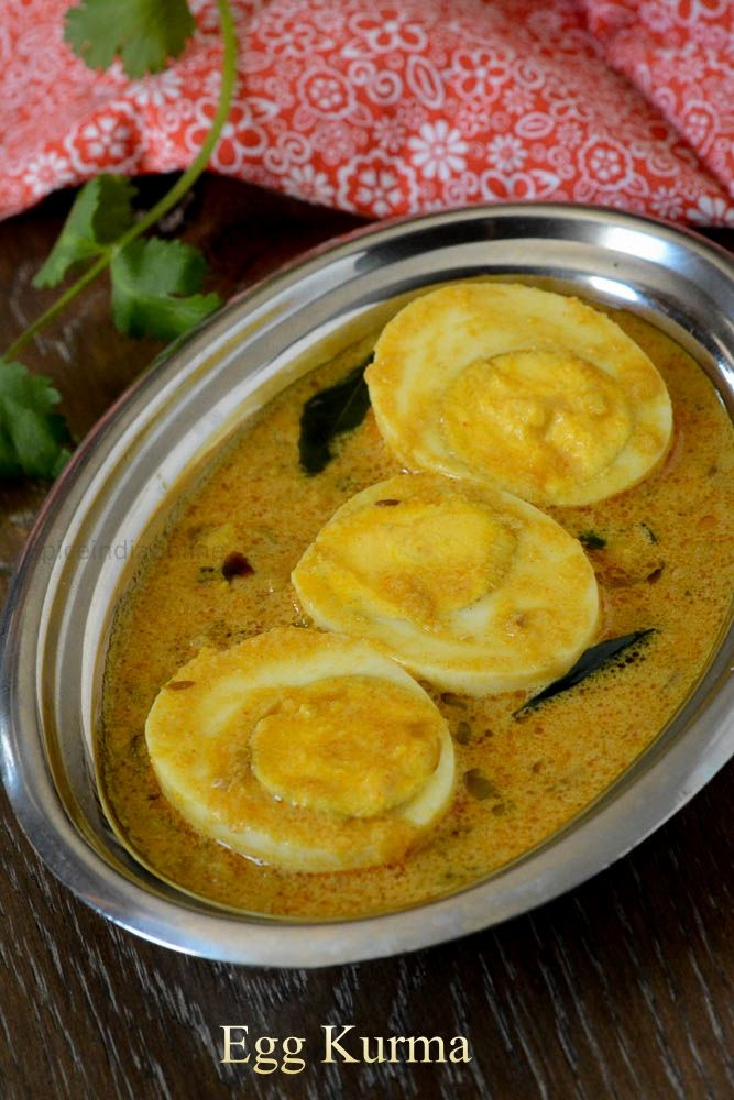 South Indian style Egg Kurma is a mild coconut based gravy which is so versatile and can literally pair with any item, be it rice or roti, tiffin items like idli ...