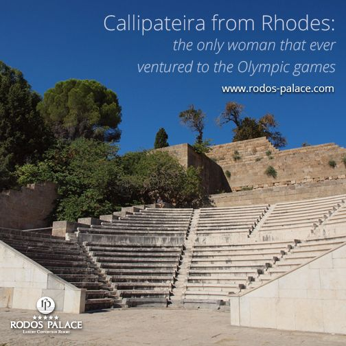 #Callipateira from Rhodes was the only woman that ever ventured to the Olympic games while it was strictly forbidden to women. She was the daughter of the famous Rhodian Diagoras, #Olympic athlete, and also sister and mother to Olympic winners. She accompanied her son Peisirrhodos thither disguised as his trainer. She was discoverd, but her life was spared considering of what family she came from.  www.rodos-palace.com #ancienthistory #Rodos #rhodes #FamousRhodians #RodosPalaceHotel