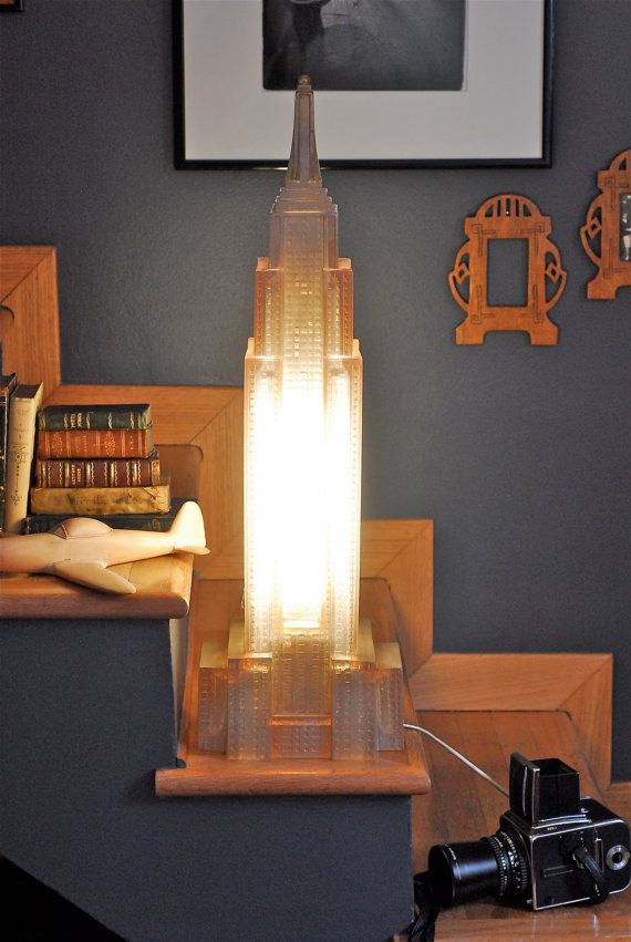 New York, Empire State Building, desk lamp, floor lamp, vintage 80s,