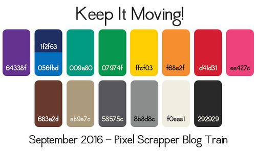 Sept 2016 Blog Train - Working | Pixel Scrapper digital scrapbooking forums