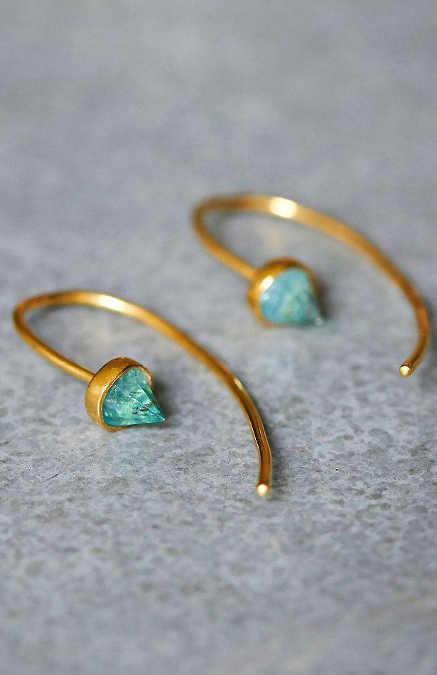 Apatite threader earrings