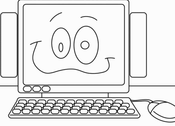 Computer Coloring Pages Printable Free Coloring Sheets Coloring Pages Coloring Sheets Kindergarten Coloring Pages