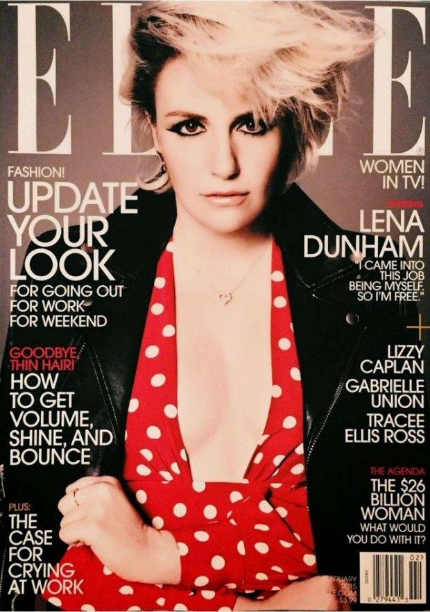 Lena Dunham for Elle February 2015