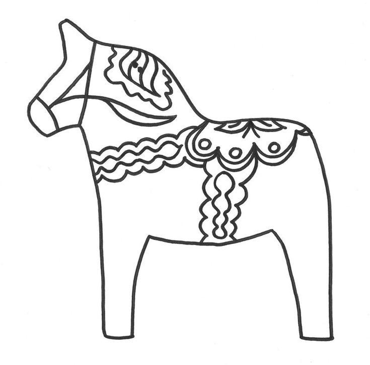 coloriage_dala_horse_Dalah_st__coloring_embroidery