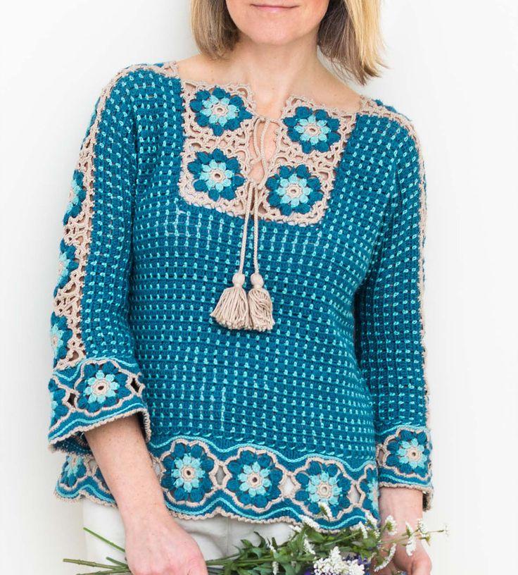 River Whisper Tee crochet pattern