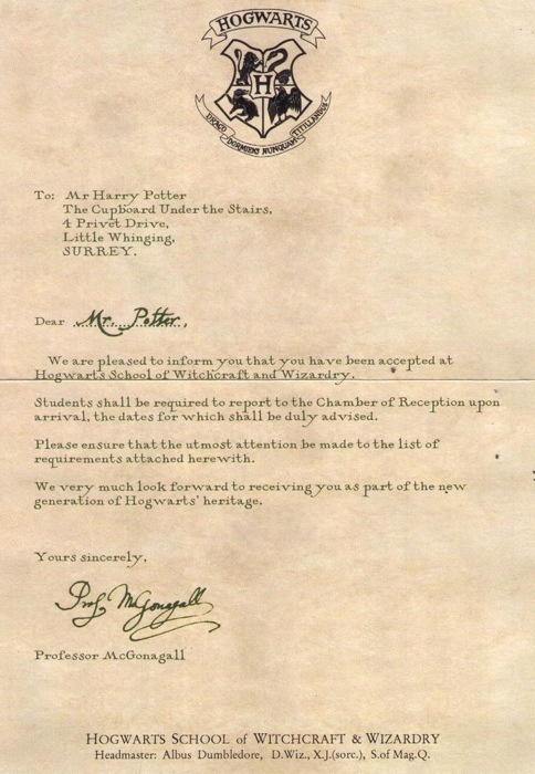 8 Best Hogwarts Acceptance Letter Images On Pinterest | Harry