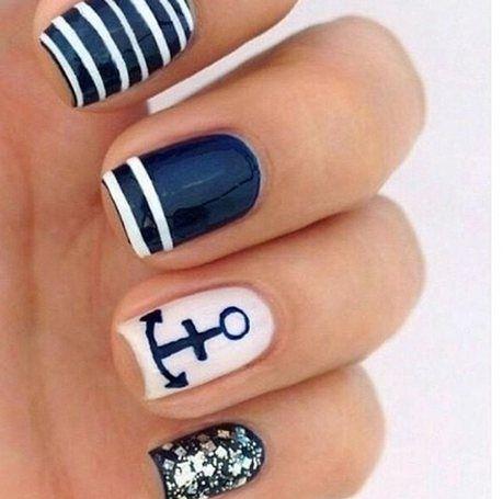 Nail Art Navy                                                                                                                                                     Plus