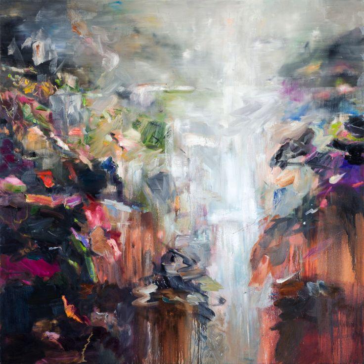 Cathy Layzell (Sudáfrica, b 1972, Ciudad del Cabo, África del Sur.) - 1: Groeneweide Bos, 2016 2: Caída en Swartberg Pass, 2016 Pintura: Óleo sobre lienzo