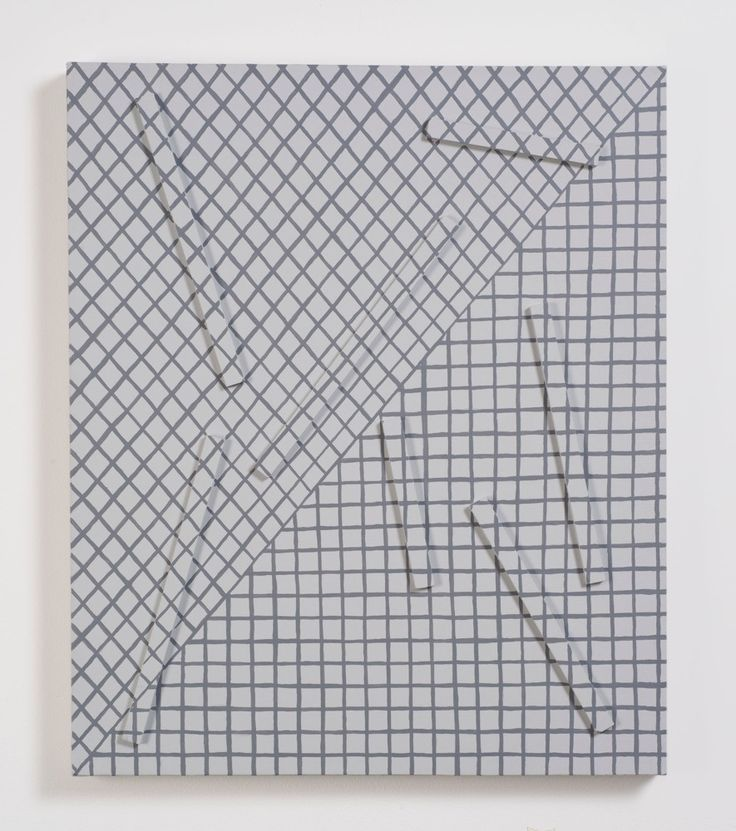 "Adam Henry [USA] (b 1974) ~ ""Untitled (insvtk)"", 2012. Synthetic polymers and wood on linen (48,5 x 40,5 cm)."