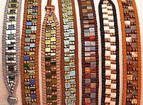beadshop.com | Free Projects. Think these are headbands, but you could easily make them as bracelets.