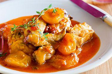 Quick apricot chicken casserole
