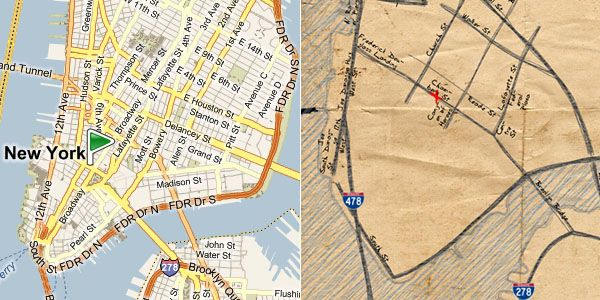 Bing Destination Maps [bing.com] seems quite interesting as a new way of rendering geographical maps in a more visually simplified, understandable and accessible way. In other words, imagine one can now create a sort of information-optimized summary maps, similar to those you would quickly draw yourself on the back of napkin. Users are able to specify a specific location, set the area of interest by dragging the sides of the on-map square, and provide the map with a title.