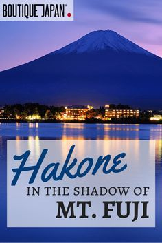 Hakone is a beautiful national park area located near Tokyo. It's most famous for its onsen (hot springs) and - on clear days - stunning views of Mount Fuji.