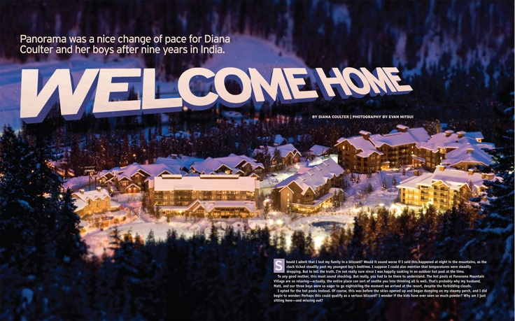 "Ski Canada Magazine 40th Anniversary Issue feature on Panorama Mountain Village titled ""Welcome Home"" by Diana Coulter, photography by Evan Mitsui"