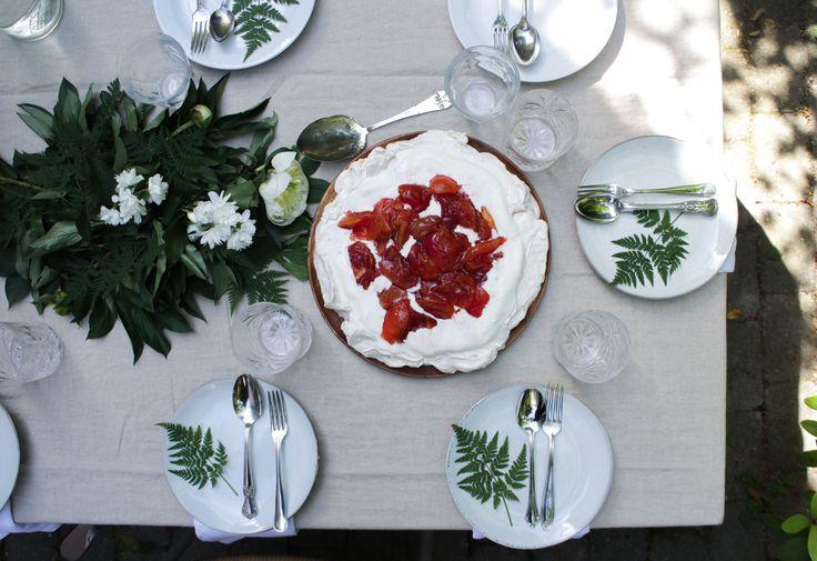 Peach Preserve Ice Cream Pavlova + Backyard Gatherings