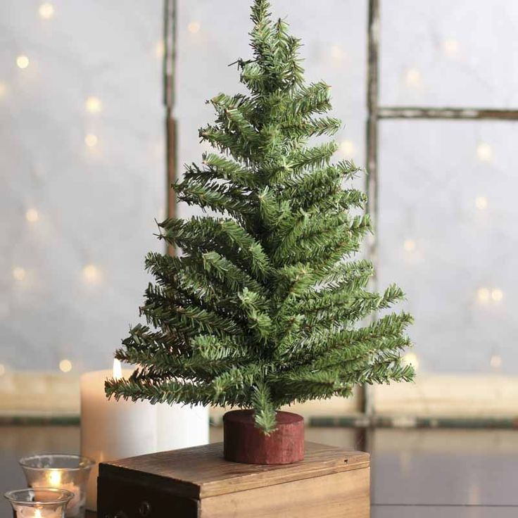 Miniature Artificial Christmas Tree - Christmas Trees and Toppers - Christmas and Winter - Holiday Crafts