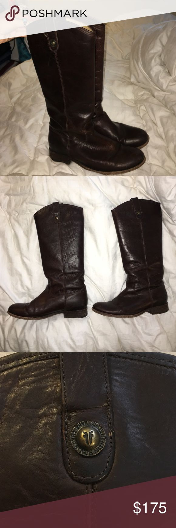 100% Authentic Frye Melissa Boots! Worn but still in awesome condition!!! These boots last forever, just don't wear them enough anymore. 100% authentic but I do not have the box anymore because i don't have the space at college. Frye Shoes Heeled Boots