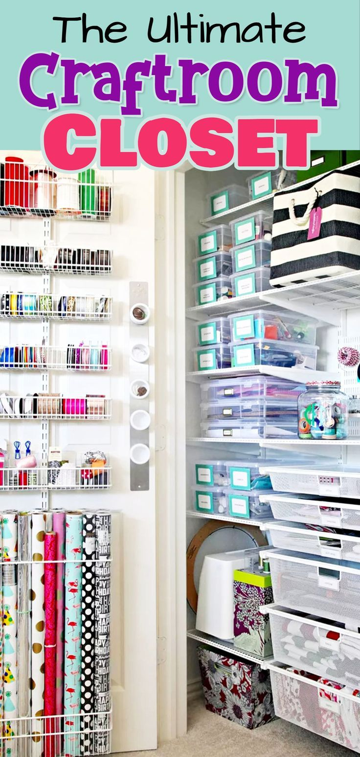 Craft Room Organization Unexpected Creative Ways To Organize Your Craftroom On A Budget Craft Closet Organization Craft Room Organization Craft Room