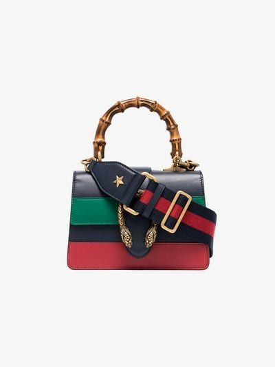 611f569f861 blue green and red Dionysus Mini Top Handle Bag