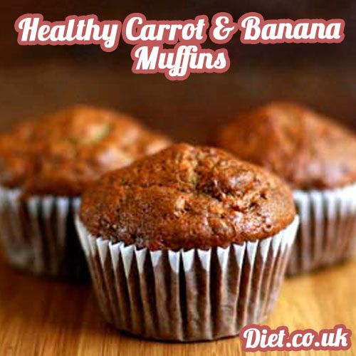 Healthy carrot and banana muffins recipe can be found at our facebook page along with other healthy sweet treat recipes, meals and weight loss secrets! https://www.facebook.com/Diet.co.uk Who says that desserts can't be healthy!