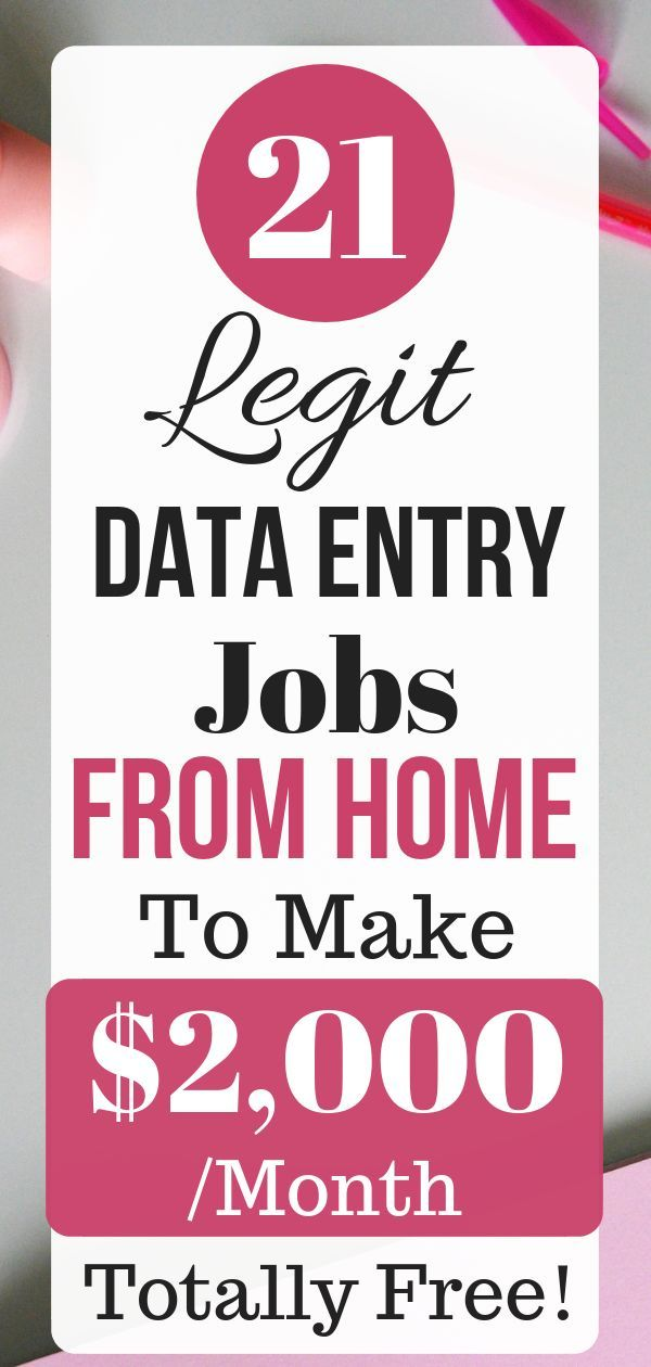 21 Legit Data Entry Online Jobs From Home to Make …