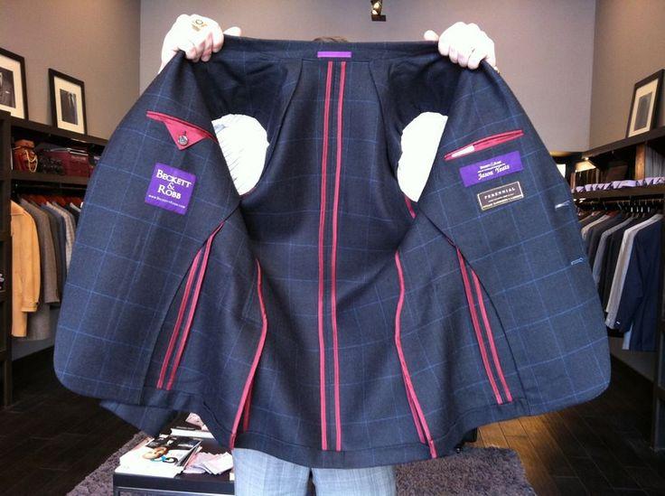 Фото Обработка пиджака с частичной подкладкой.