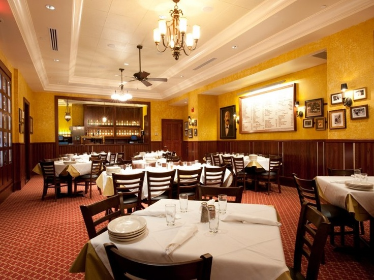 "Carmine's (DC). ""Members of Congress, cabinet secretaries, and Supreme Court Justices have all dined at the family-style Southern Italian restaurant Carmine's in Penn Quarter (and Speaker of the House John Boehner is a regular)."""