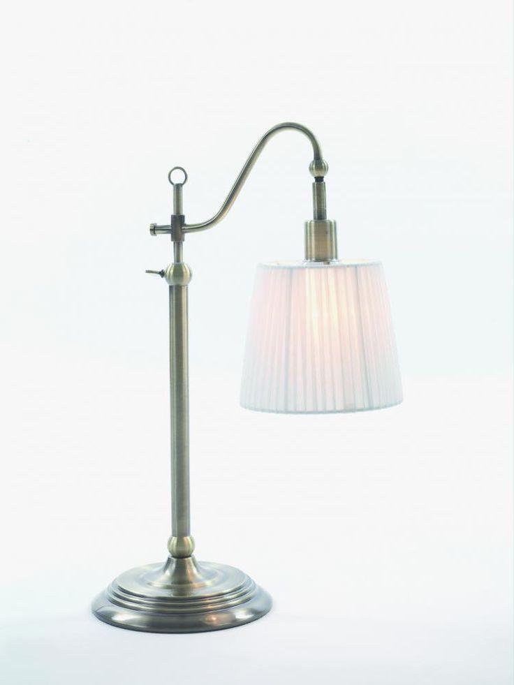Carl bordlampe Antikk messing | Lampehuset. soverom