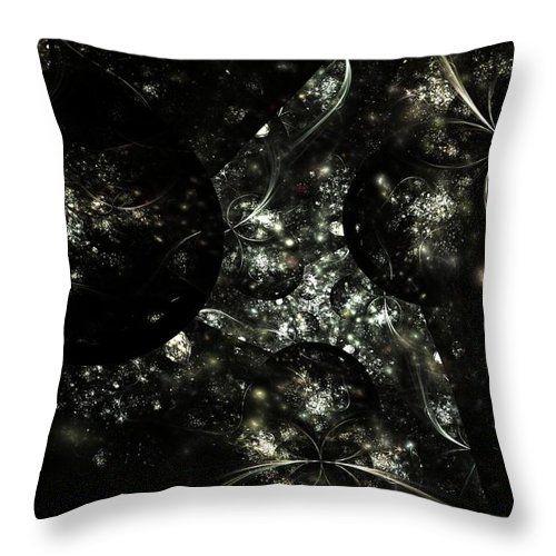 Fractal Throw Pillow featuring the digital art Cosmology by Elena Ivanova IvEA  #ElenaIvanovaIvEAFineArtDesign #Design #Pillow #Cushiоn #HomeDecor #Gift