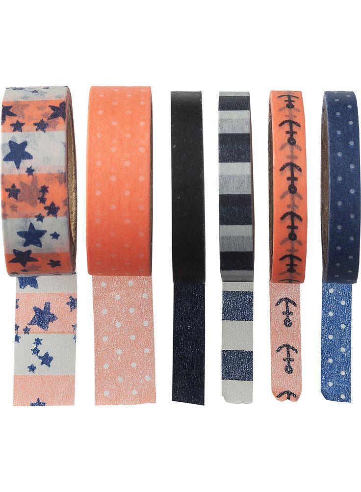 Stippen en sterren washi tapeset. Personaliseer je agenda, schrift, map of pen met deze leuke tapes!