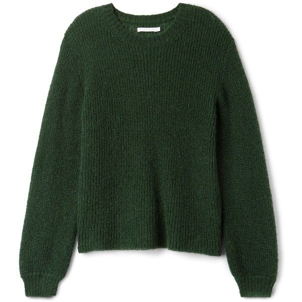 Jo Sweater ❤ liked on Polyvore featuring tops, sweaters, loose fitting sweaters, green top, cut loose tops, loose fitting tops and round neck sweater