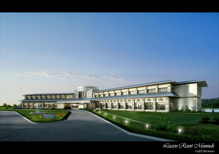 "Club House Type-1 (Modern Style), ""DAEMYUNG LUCEEN RESORT : Culture Theme Resort CG Perspective View / ""대명 루첸 리조트"" 클럽하우스 타입1. 투시도"
