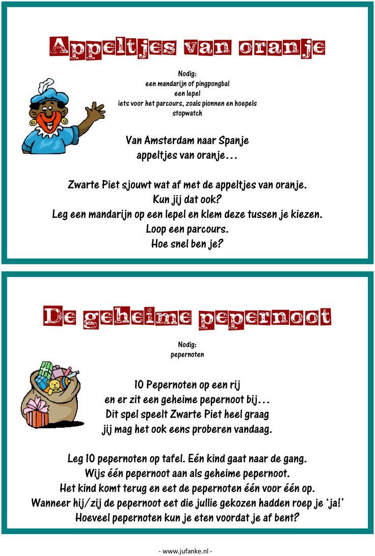 Feest: spelletjesmiddag Sinterklaas 7/9